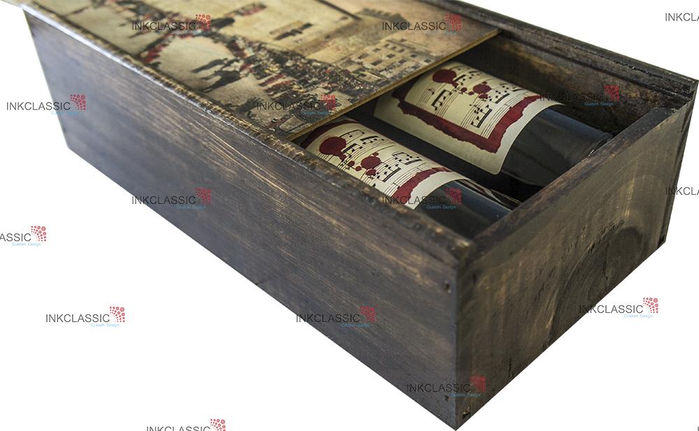 madera caja vino madera botellas